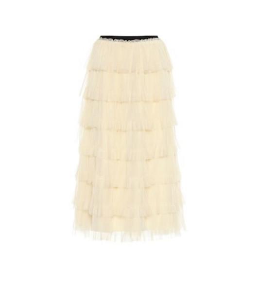 REDValentino Layered tulle miniskirt in yellow