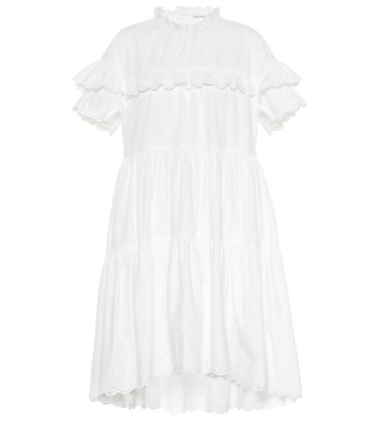Ulla Johnson Leonie cotton-poplin dress in white