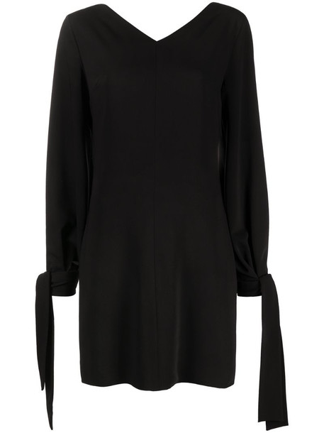 MSGM tie-cuff shift dress in black