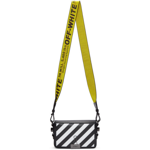 Off-White Black Mini Diag Flap Bag