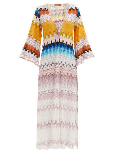 Missoni - Lace-up Stripe-knitted Kaftan - Womens - Multi