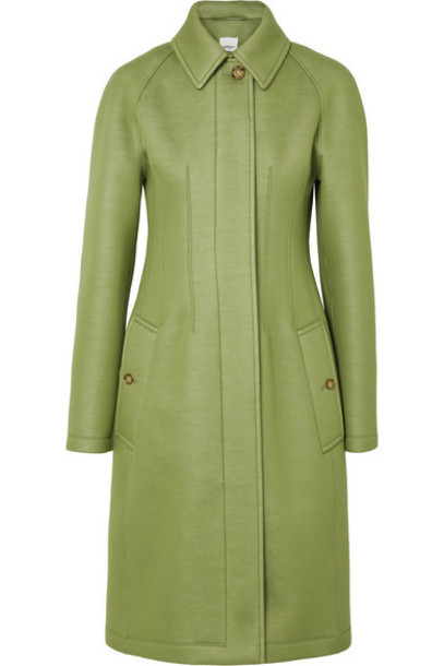 Burberry - Neoprene Coat - Green
