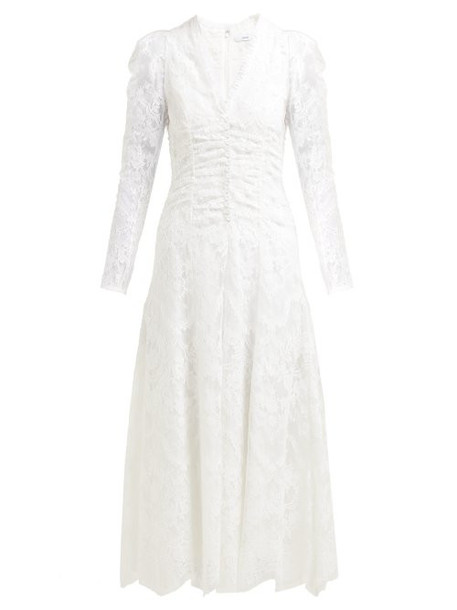 Erdem - Annalee Cotton Blend Chantilly Lace Gown - Womens - White