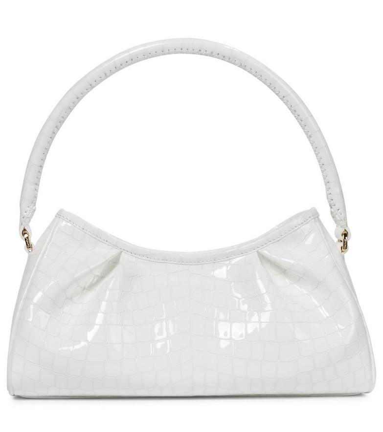 Elleme Dimple croc-effect leather shoulder bag in white
