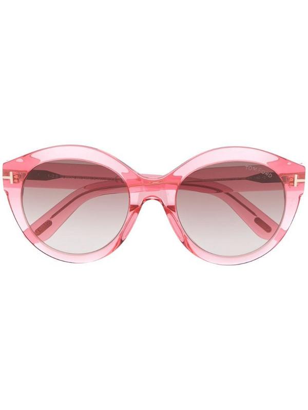 Tom Ford Eyewear Rosanna round-frame sunglasses in pink