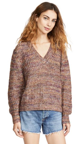 Splendid Marled Pullover in multi