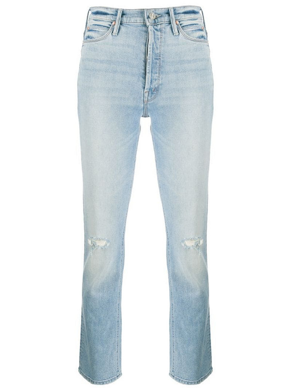 Mother Dazzler mid-rise slim jeans in blue