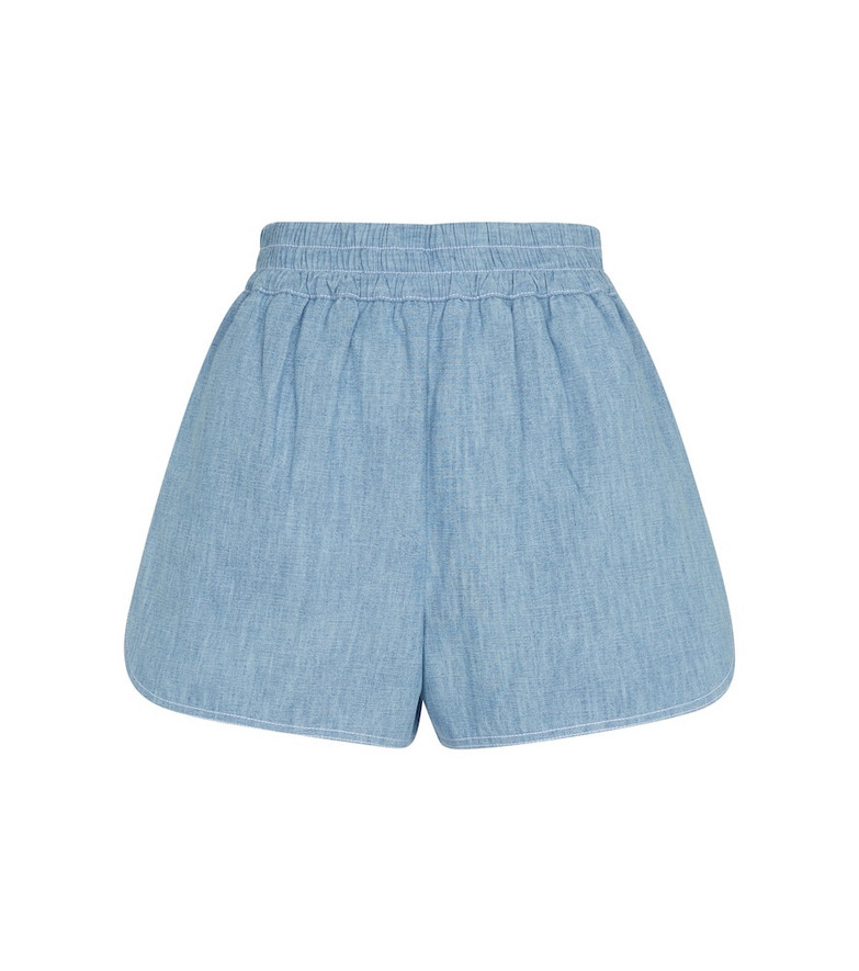 Fendi Cotton chambray shorts in blue