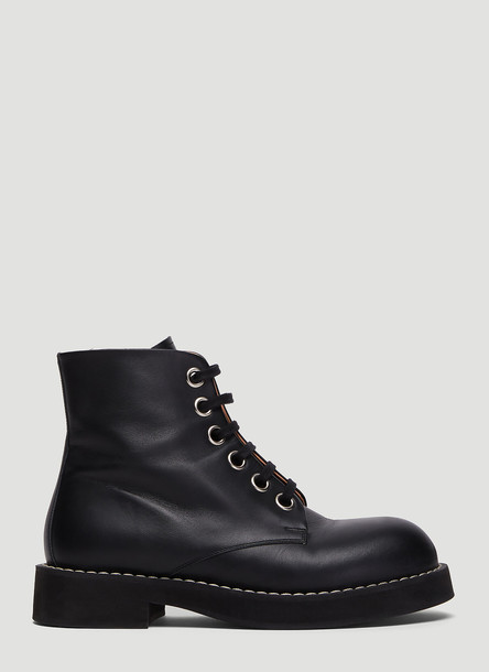 Marni Lace-Up Boots in Black size EU - 38