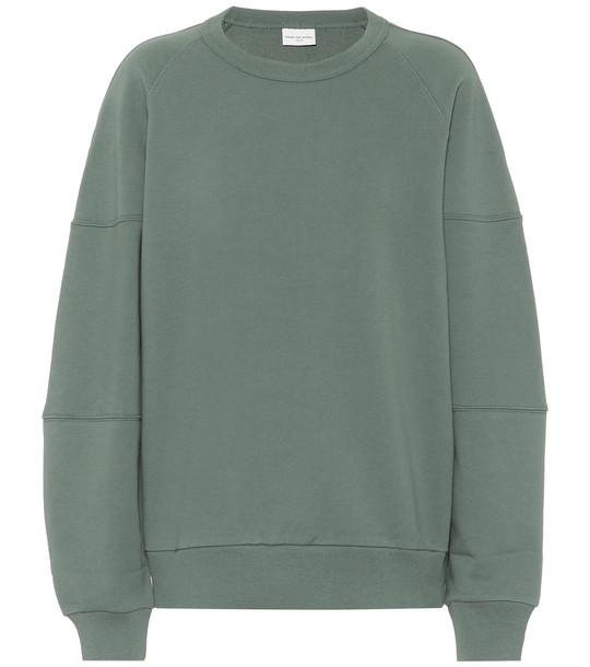 Dries Van Noten Cotton sweatshirt in green