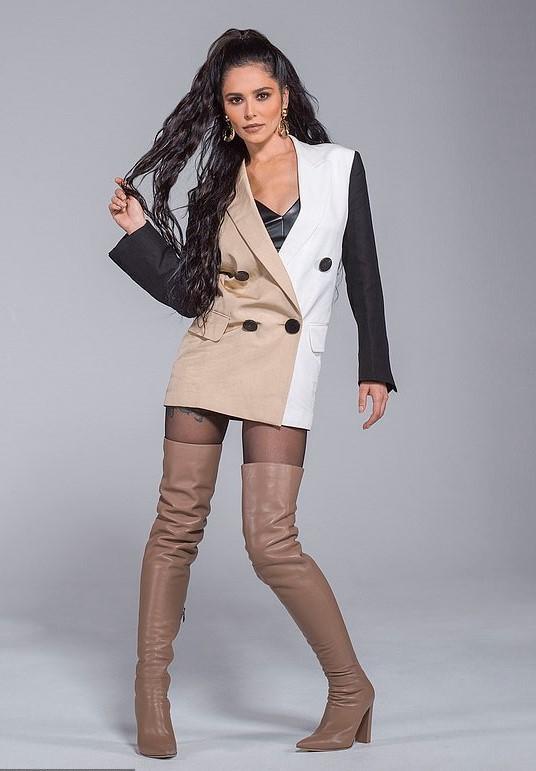 jacket beige nude black blazer blazer dress cheryl cole celebrity editorial