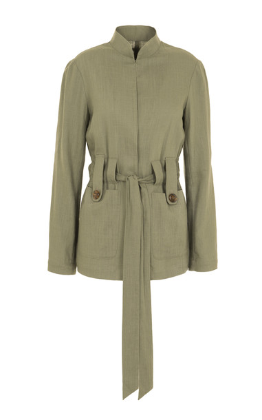 Usisi Alma Linen Jacket in green