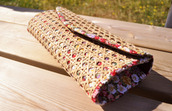 flowers,crochet,boho,clutch,handbag,red bag,white bag,black bag,orange bag,pink bag,purple bag,brown bag,bag