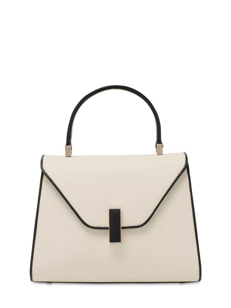 VALEXTRA Mini Iside Grained Leather Bag in nero