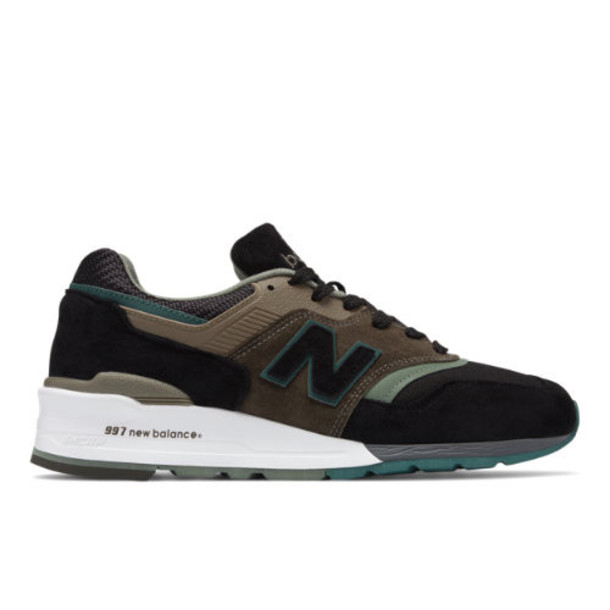 New Balance Made in US 997 Men's Made in USA Shoes - Black/Green (M997PAA)