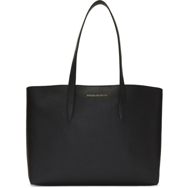 Dolce and Gabbana Black Dauphine Shopping Tote