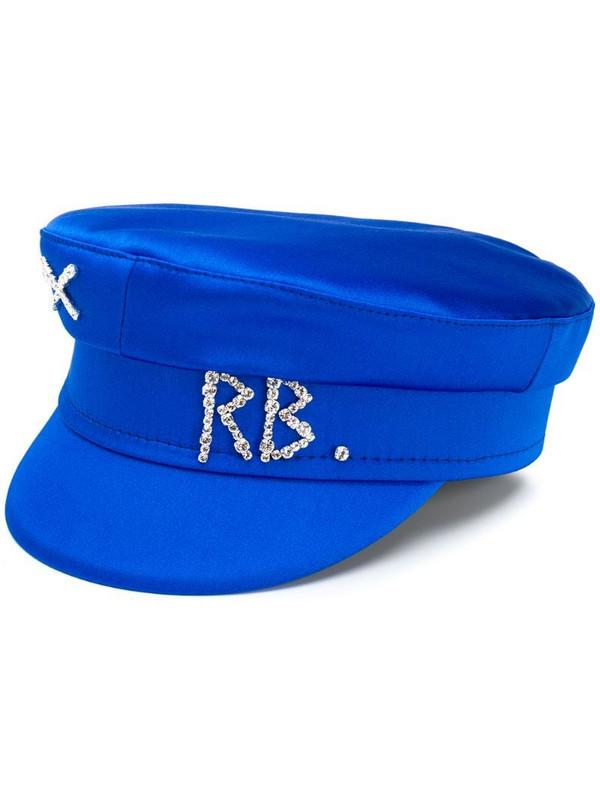 Ruslan Baginskiy rhinestone logo baker boy hat in blue