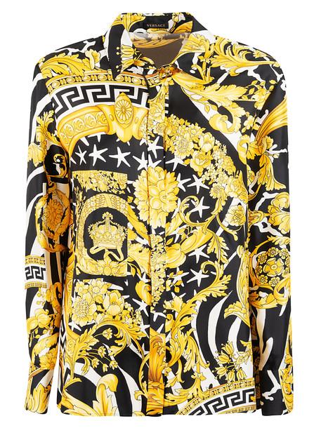 Versace Printed Shirt in nero