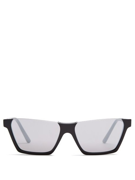 Celine Eyewear - Rectangular Frame Acetate Sunglasses - Womens - Black