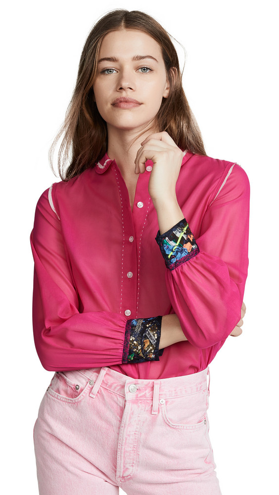 Kolor Collared Button Down Shirt in pink