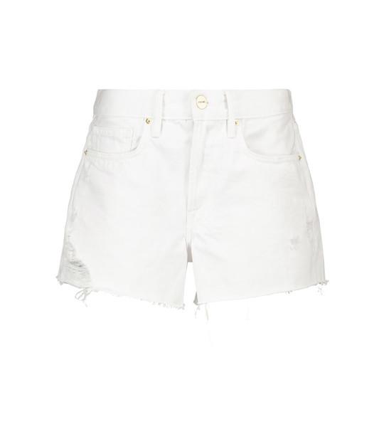 Frame Le Brigette denim shorts in white