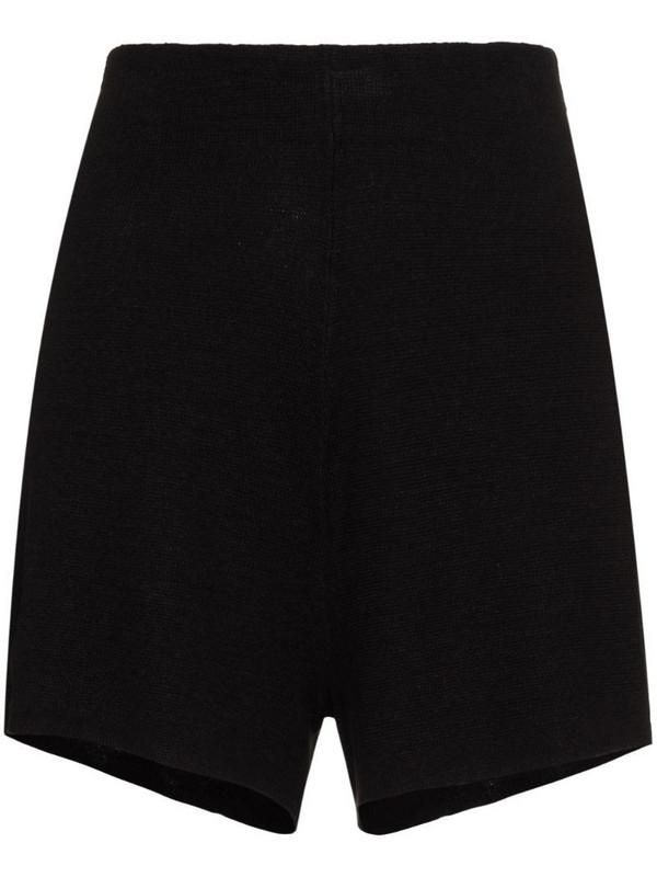 St. Agni Spencer linen knit shorts in black
