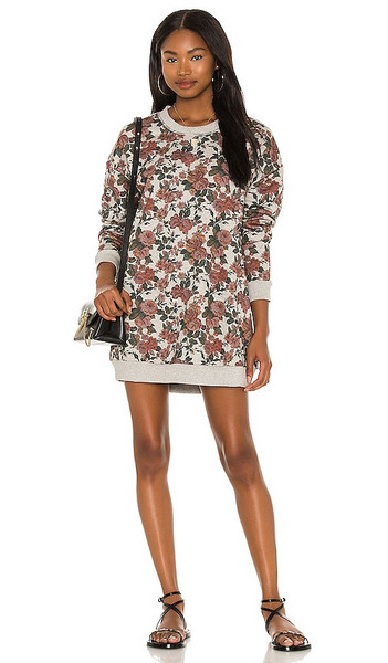 Lovers + Friends Lovers + Friends Ollie Sweatshirt Dress in Grey,Red