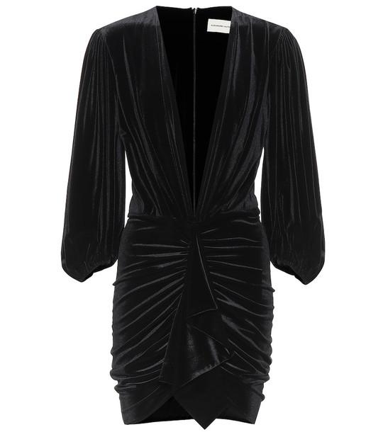 Alexandre Vauthier Velvet minidress in black