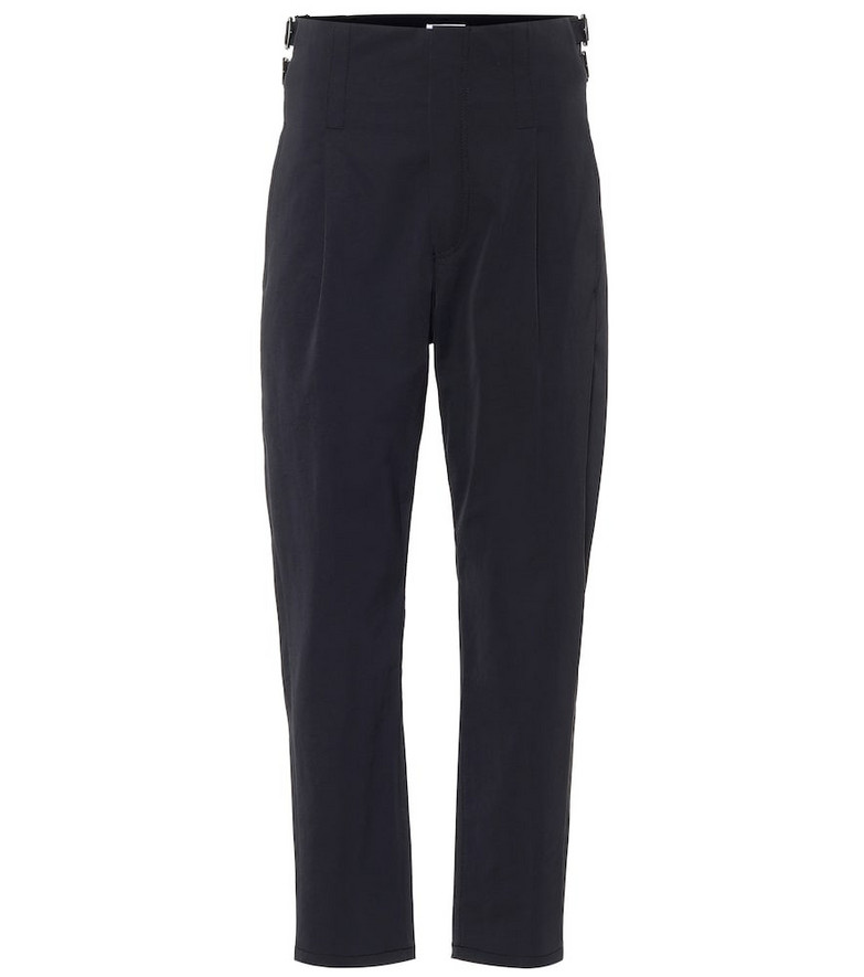 COLOVOS Buckle high-rise pants in black