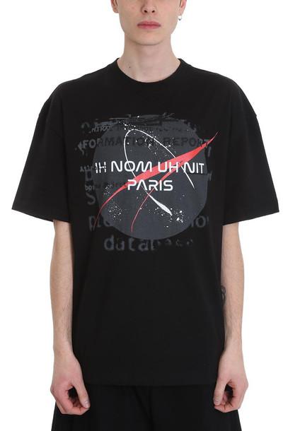 ih nom uh nit Nasa Black Cotton T-shirt