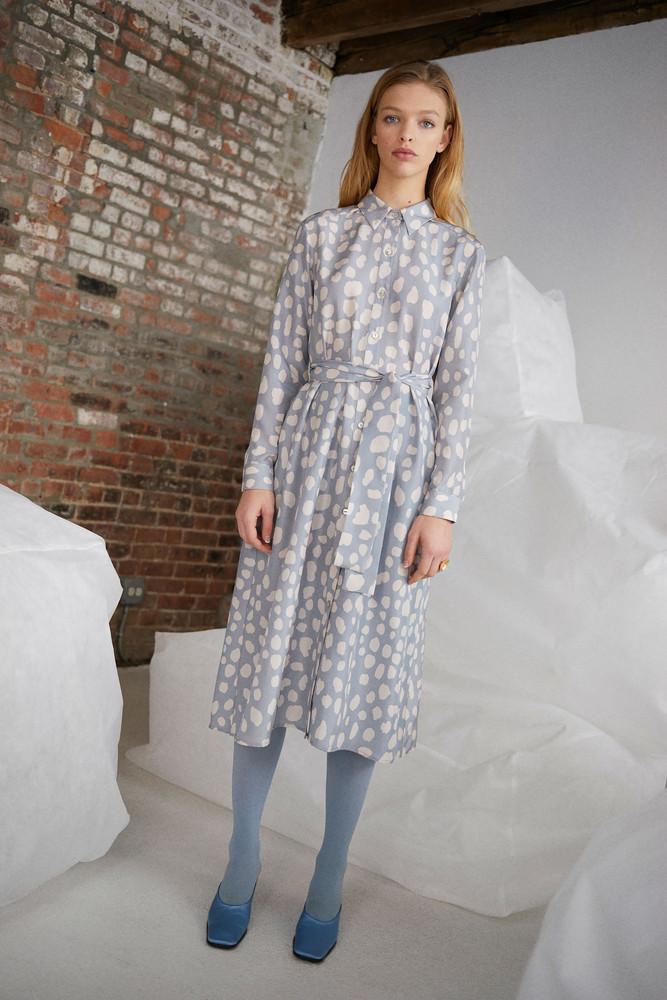 WHIT DADA DRESS in LEOPARD HABUTAI ICE-CREAM