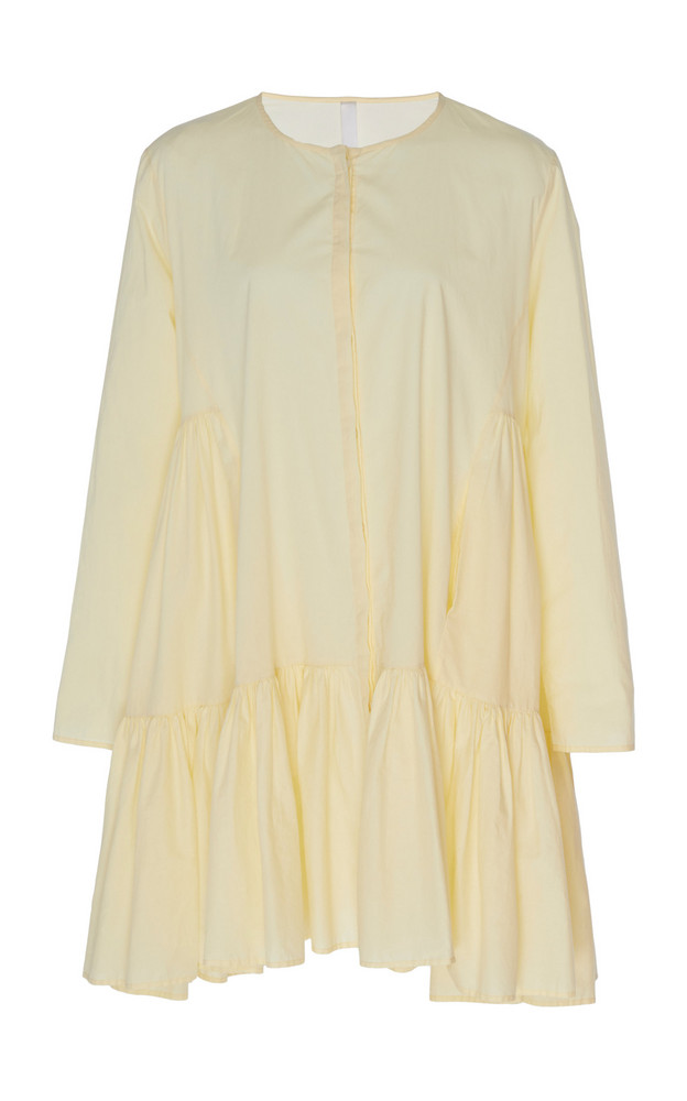 Merlette Martel Ruffled Shirt Dress in yellow