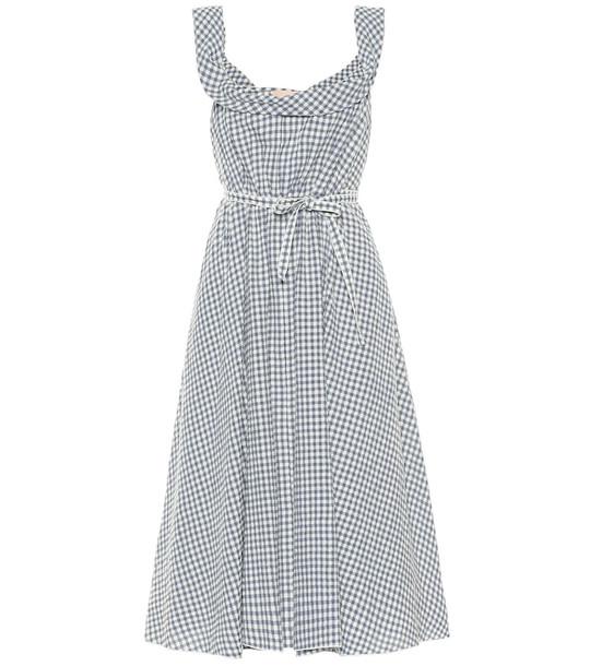 Brock Collection Patti gingham wool-blend dress