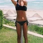 swimwear,black,side tie bikini bottom,bikini,one shoulder bikini