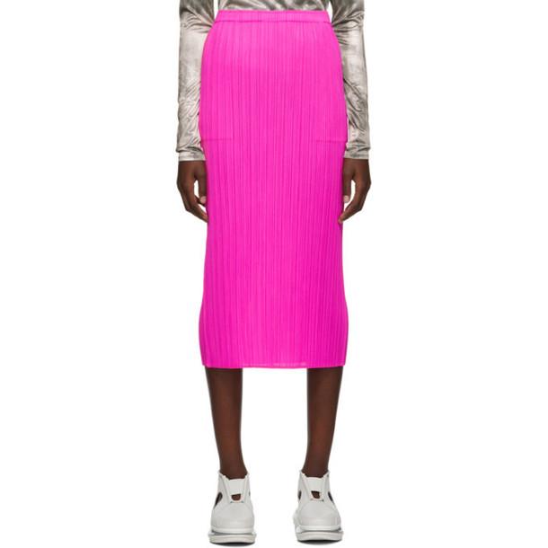 Pleats Please Issey Miyake Pink New Colorful Basics 2 Skirt