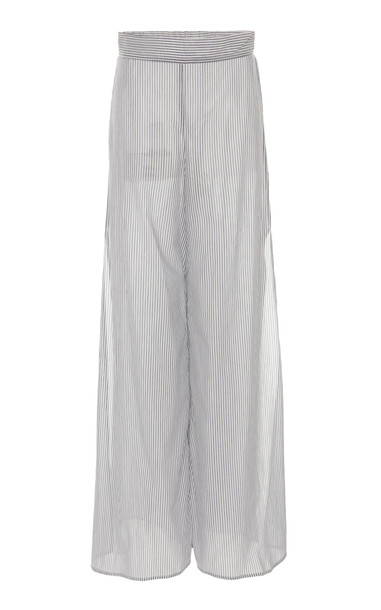 White Story Nanna Cotton Wide-Leg Pants in blue