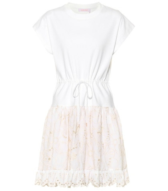 See By Chloé Cotton broderie anglaise dress in white