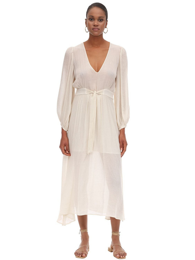 L'AUTRE CHOSE Crepe De Chine Loungette Dress in ivory