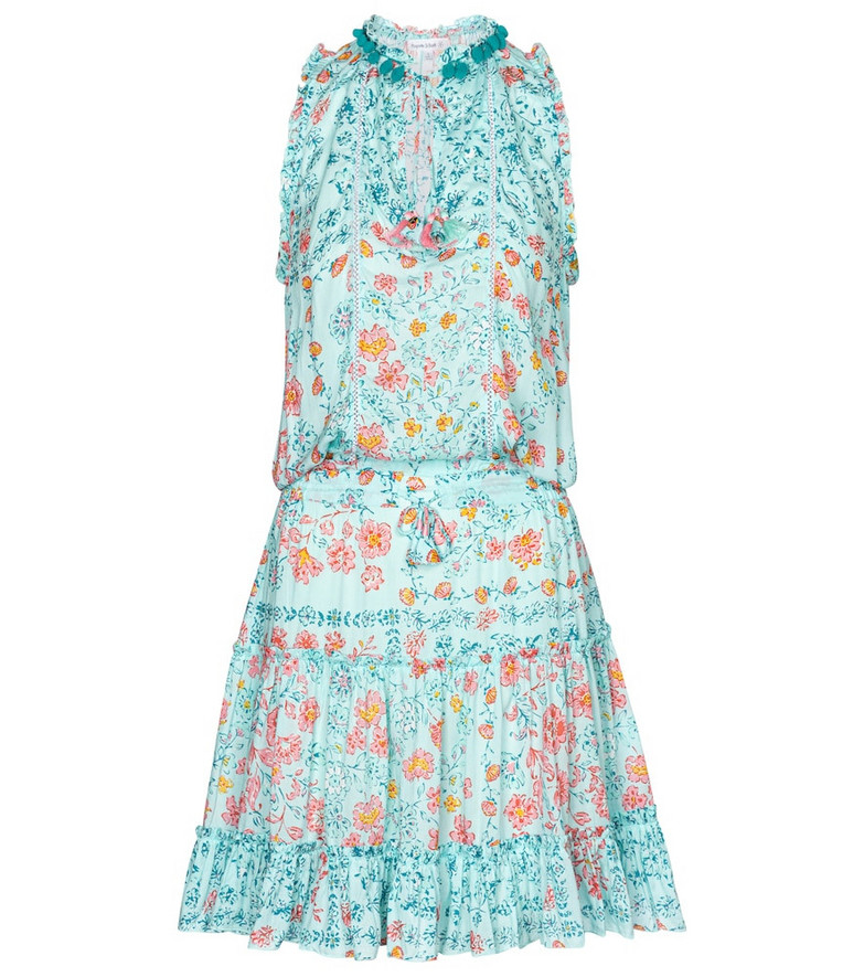 Poupette St Barth Exclusive to Mytheresa – Clara floral minidress in blue