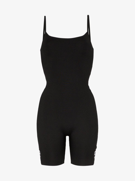 Adidas logo cycling bodysuit in black