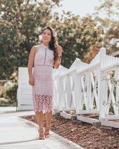 cute & little,blogger,shoes,jewels,dress,make-up,lace dress,pink dress,gold sandals,summer outfits