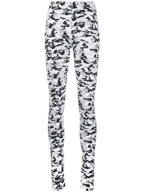 MM6 Maison Margiela camouflage-print leggings in white