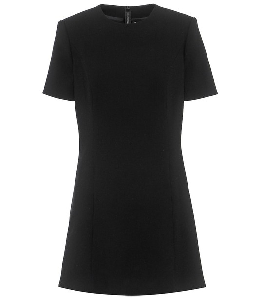 Saint Laurent Wool minidress in black