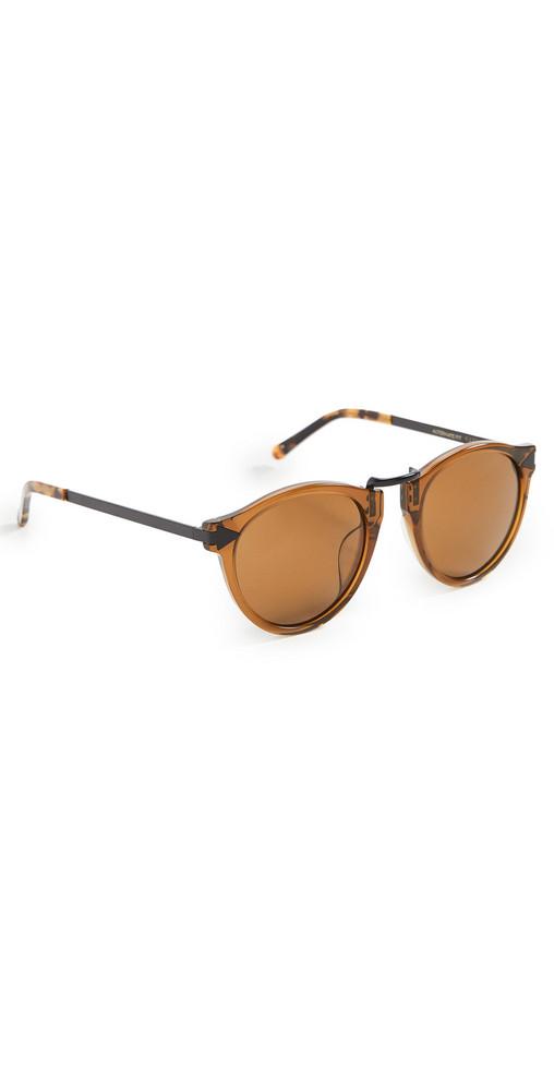 Karen Walker Helter Skelter Alternate Fit Sunglasses in black / tan