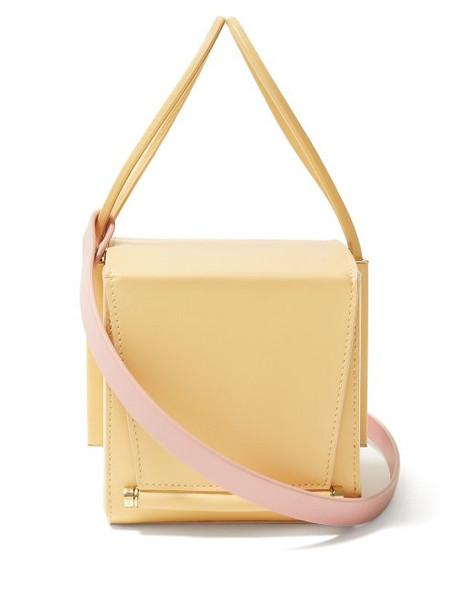 Roksanda - Box Leather Cross Body Bag - Womens - Yellow