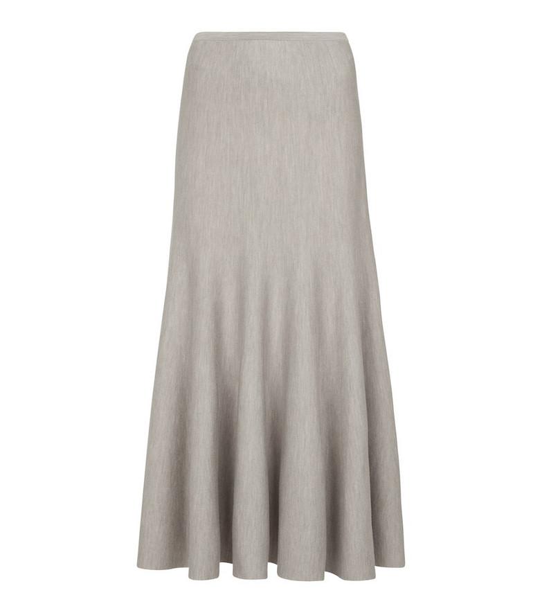 Gabriela Hearst Christina wool and cashmere midi skirt in beige