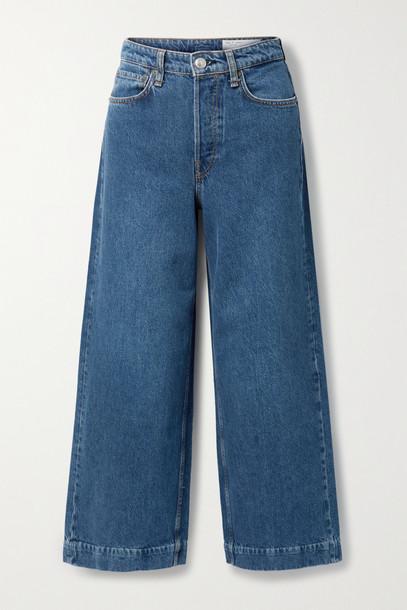 RAG & BONE - Maya Cropped High-rise Wide-leg Jeans - Blue