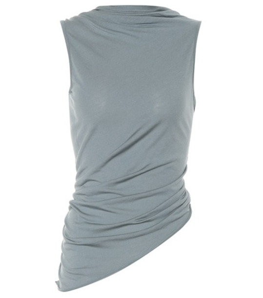 Rick Owens Lilies jersey top in grey