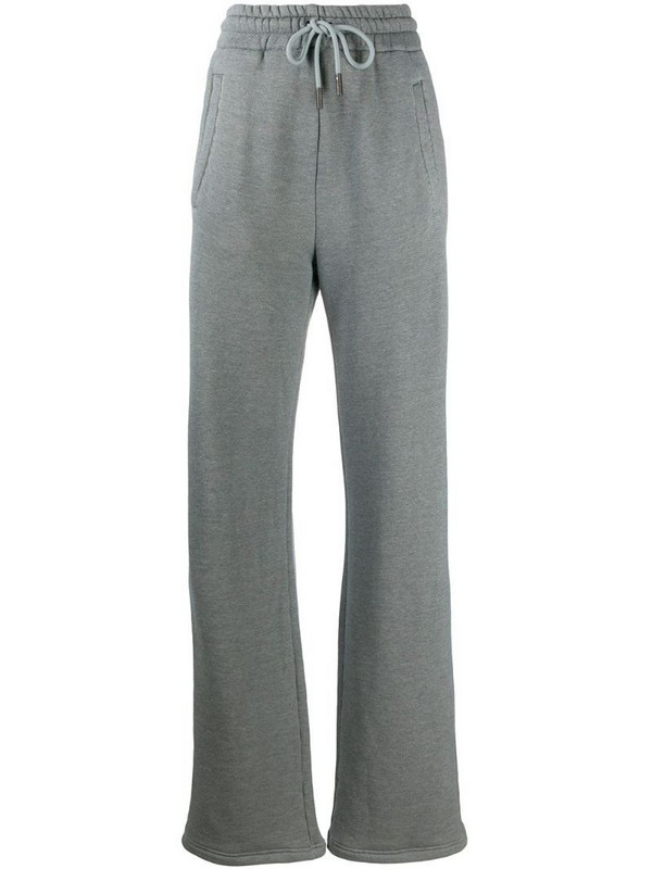 Off-White Diag wide-leg track pants in grey
