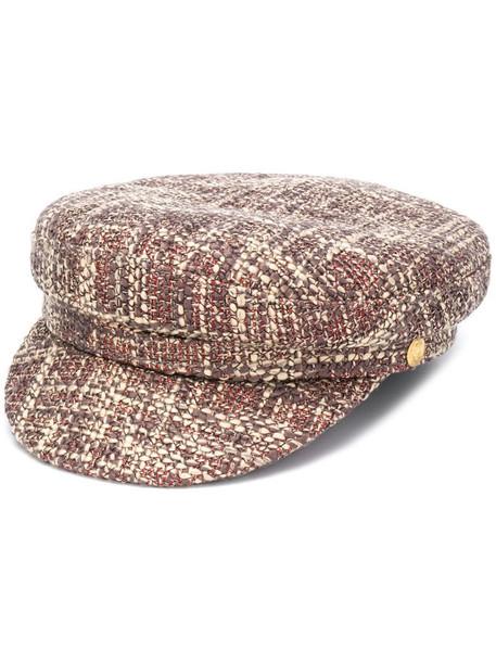 Manokhi Greek Fisherman tweed hat in neutrals